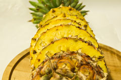 Pineapple. Sliced Pineapple on a white background Royalty Free Stock Images