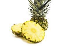 Pineapple. Juicy cut pineapple on white Stock Image