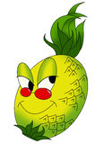 Pineapple. Color illustration of a mischievous pineapple Royalty Free Stock Images