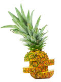 Pineapple. A pineapple sliced and stacked upright Stock Photo