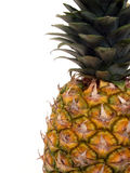 Pineapple. Isolated pineapple off right side Royalty Free Stock Images