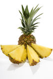 Pineapple. Fresh pineapple before a white background Royalty Free Stock Images