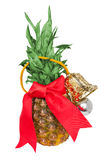 Pineapple. Fresh pineapple on a white background Royalty Free Stock Photos