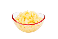 Pineapple. Chunks isolated on a white background Royalty Free Stock Photo