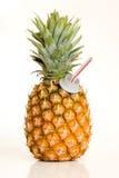 Pineapple. Fresh pineapple juice royalty free stock image