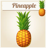 Pineapple Ananas. Cartoon vector icon. Series of food and drink and ingredients for cooking vector illustration