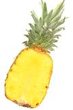 Pineapple. (Ananas comosus, Ananas sativus) - fresh, halved fruit Royalty Free Stock Photo