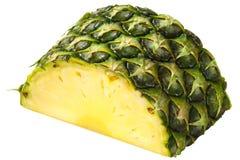 Pineapple ananas comosus chunk. Pineapple Ananas comosus slice, chunk or piece with rind stock image