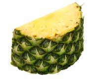 Pineapple ananas comosus chunk. Pineapple Ananas comosus slice, chunk or piece with rind royalty free stock image