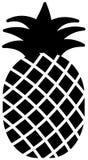 Pineapple ananas icon silhouette. Vetor illustration vector illustration