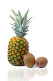 Pineapple And Kiwis Stock Photo