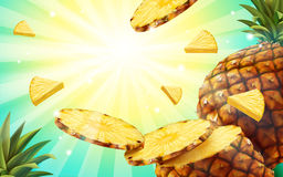 Free Pineapple Background Design Royalty Free Stock Photo - 97200445