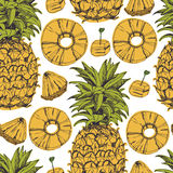 Pineapple background Stock Images