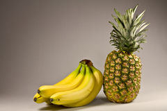 Pineapple and banana Royalty Free Stock Images