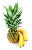 Pineapple and bananas Royalty Free Stock Photos