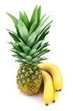 Pineapple and bananas Royalty Free Stock Photos