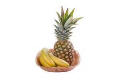 Pineapple and Bananas Royalty Free Stock Photo