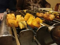 Pineapple. Barbeque love food India stock photos