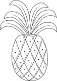 Pineapple. A big tropical pineapple, good for people vector illustration