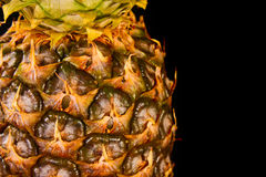 Pineapple on black Royalty Free Stock Photography