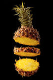 Pineapple on a black background Stock Photo