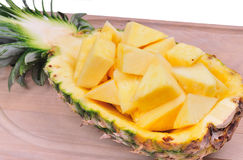 Pineapple boat Royalty Free Stock Images