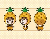 Pineapple boy Royalty Free Stock Photos