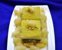Pineapple Burfi Royalty Free Stock Photo