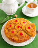 Pineapple cake with caramel. Royalty Free Stock Photography