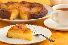 Pineapple cake and cup of tea Stock Photo