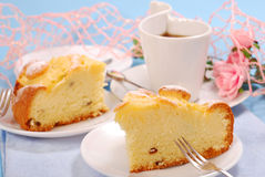 Pineapple cake with raisins Stock Photo