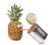 Pineapple with can Stock Photo