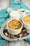Pineapple and caramel crumble Royalty Free Stock Photo