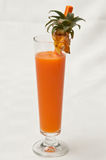 Pineapple and carrot juice Royalty Free Stock Photography