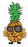 Pineapple cartoon character Stock Photos