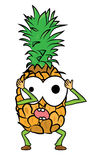 Pineapple cartoon character Royalty Free Stock Photos
