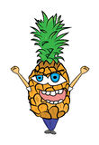 Pineapple cartoon character Royalty Free Stock Photography