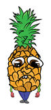 Pineapple cartoon character Stock Photo