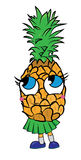 Pineapple cartoon character Stock Photography