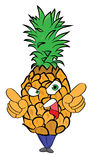 Pineapple cartoon character Royalty Free Stock Image