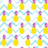 ABSTRACT PINEAPPLE HAND DRAW TEXTURE. SUMMER HOLIDAY FEELING. SEAMLESS VECTOR PATTER. PINEAPPLE CHARACTER. SUMMER SEAMLESS VECTOR PATTERN. ABSTRACT FUNNY Royalty Free Stock Photo