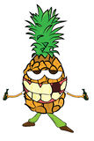 Pineapple character Stock Photo