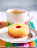 Pineapple and cherry mini cake Royalty Free Stock Photo