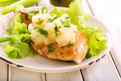 Pineapple chicken breast Royalty Free Stock Photo