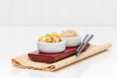 Pineapple Chicken and Rice Stock Photos