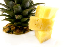 Pineapple Chunks Royalty Free Stock Photos