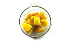 Pineapple chunks Stock Images