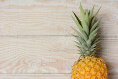 Pineapple Closeup on Wood Royalty Free Stock Photography