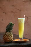 Pineapple Cocktail. Tropical drink with shaked pineapple juice Royalty Free Stock Images
