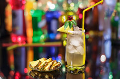 Pineapple cocktail Stock Images